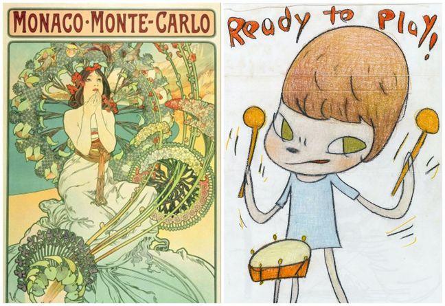 (由左至右)阿豐斯・慕夏(Alfons Maria Mucha)《摩納哥蒙地卡羅...