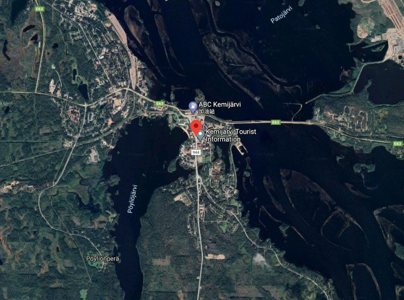 芬蘭媒體報導,中國極地研究中心2018年曾派代表團至位於芬蘭北部、北極圈內的小鎮凱米耶爾維,提案購買或租賃當地機場,作為北極研究機場,遭芬蘭軍方拒絕。圖/擷自google maps