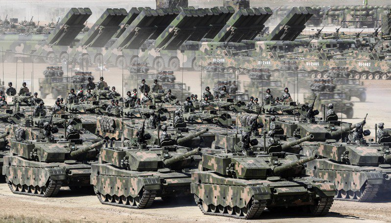 圖為中國人民解放軍建軍閱兵。新華社