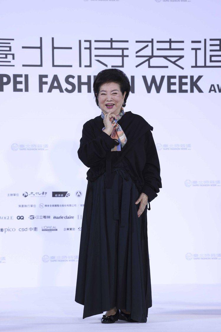 金馬影后陳淑芳出席台北時裝周展前記者發表會。記者王聰賢/攝影