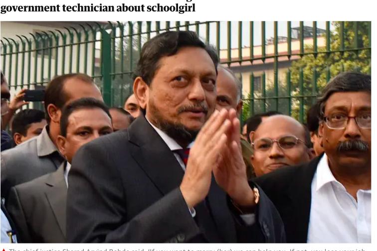 問強暴犯「願意娶受害者嗎?」印度大法官遭連署逼下台