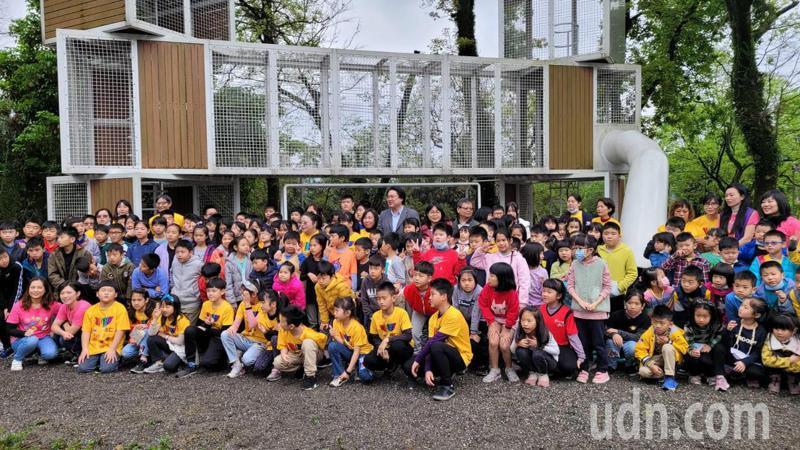 愛尚楓樂園落成學童瘋體驗,基隆7區都將設特色遊戲場。記者游明煌/攝影