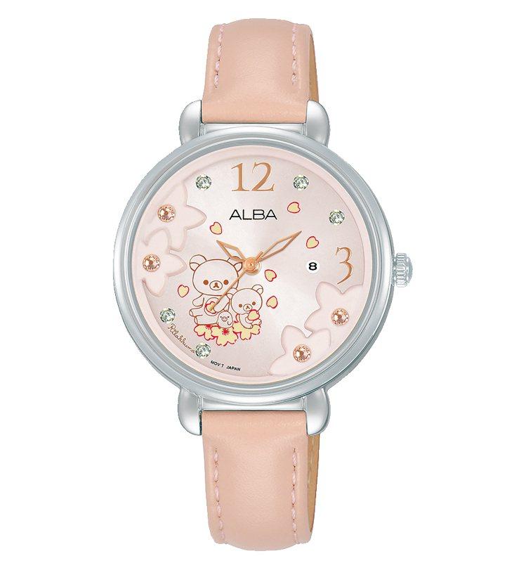 ALBA拉拉熊聯名AH7X97X1腕表,限量200只,3,000元。圖/Seik...