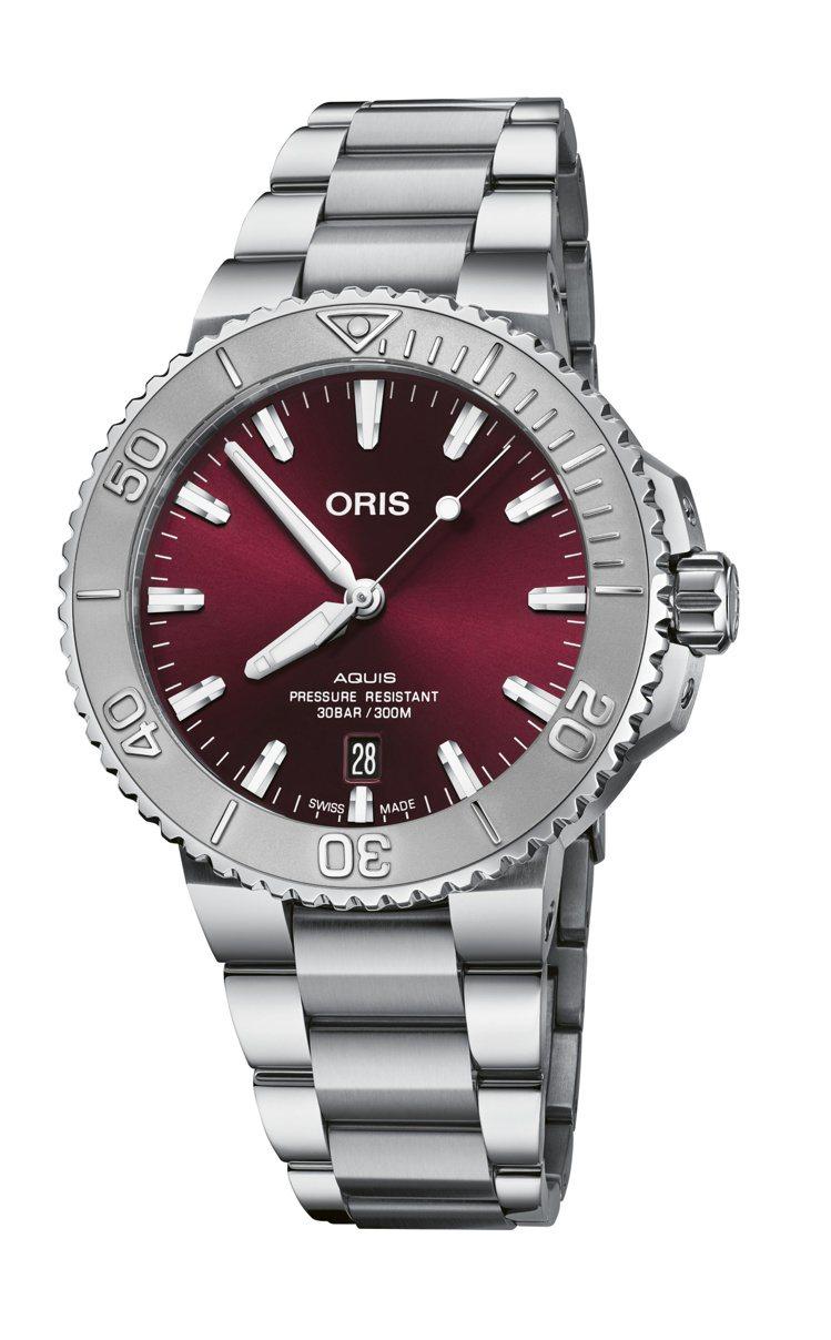 ORIS Aquis Relief潛水表,精鋼、41.5毫米、自動上鍊機芯、時間...