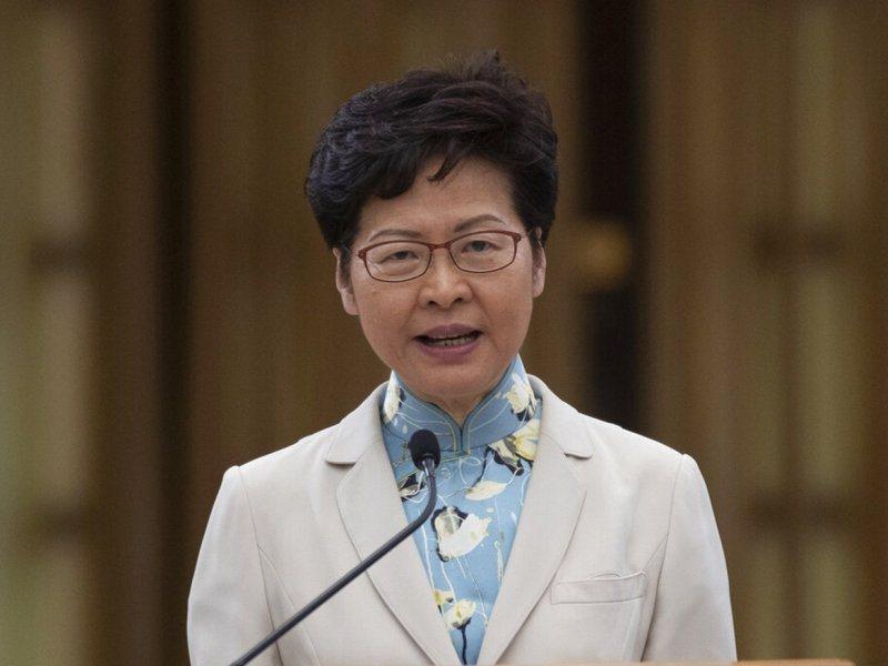 香港特區政府行政長官林鄭月娥。美聯社資料照片