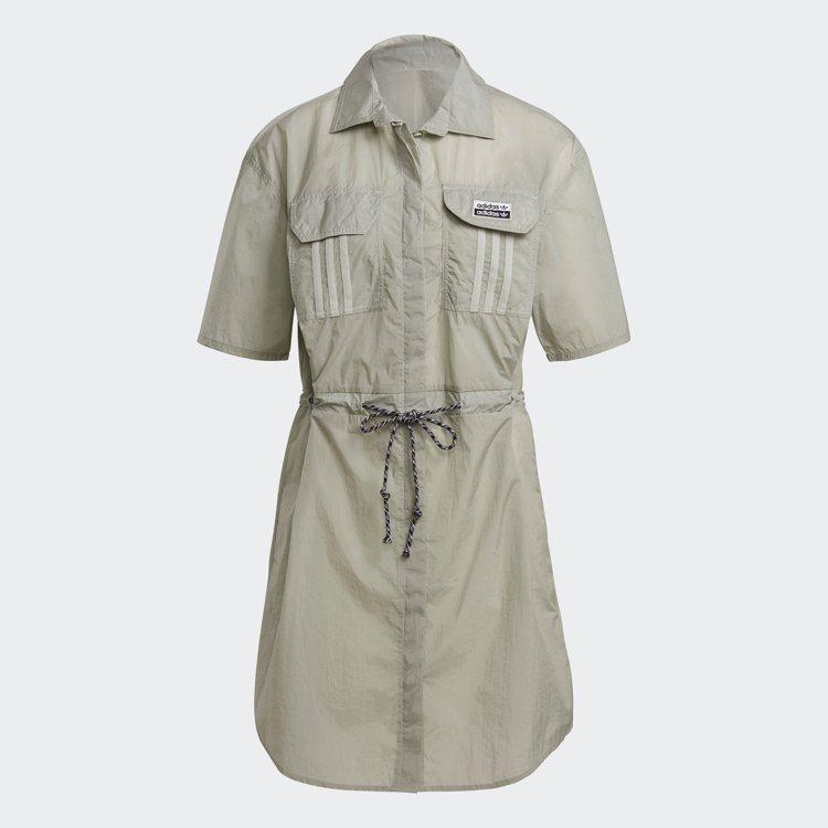 adidas Originals R.Y.V. 2.0襯衫式洋裝2,890元。圖...