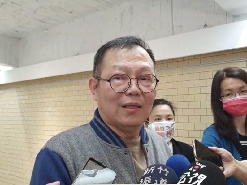 陽明交大校長林奇宏在開幕式受訪,表達對梅竹賽爭議的看法。記者巫鴻瑋/翻攝