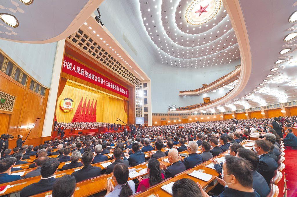 大陸十三屆全國人大四次會議5日開幕。新華社資料照片