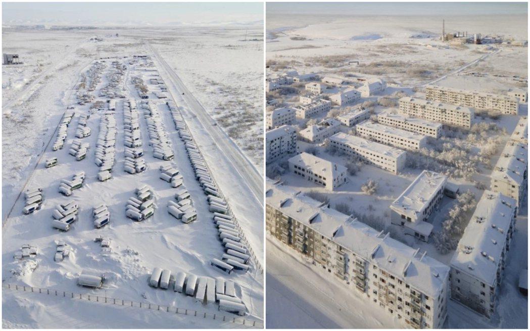 俄羅斯北極城市伏爾庫塔(Vorkuta)附近的塞門諾扎沃斯基(Sementnoz...