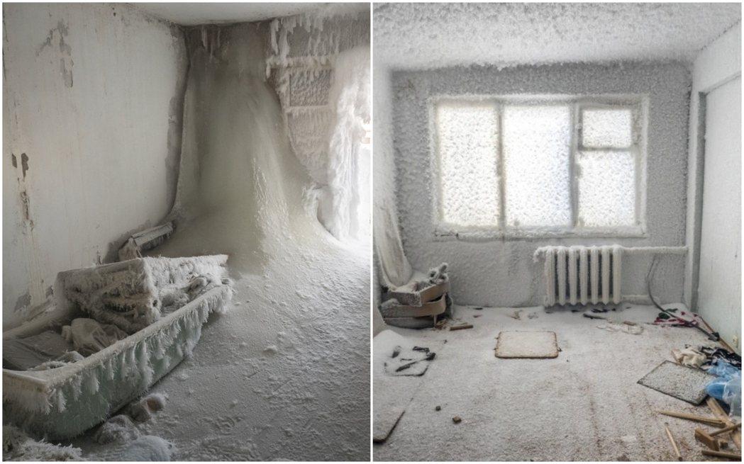 伏爾庫塔2013年後因酷寒與失業而加速人口外移,留下整片廢棄的建築物,當地政府也...