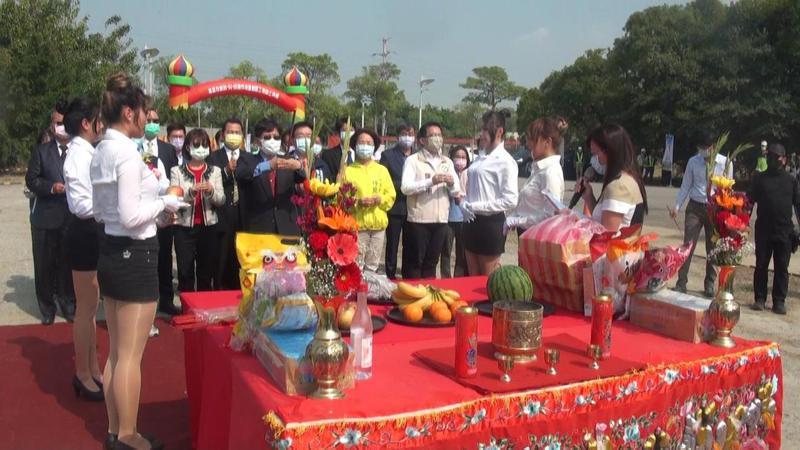 高雄市秘書長楊明州主持高雄第90期等三處重劃區動工典禮。記者王昭月/攝影