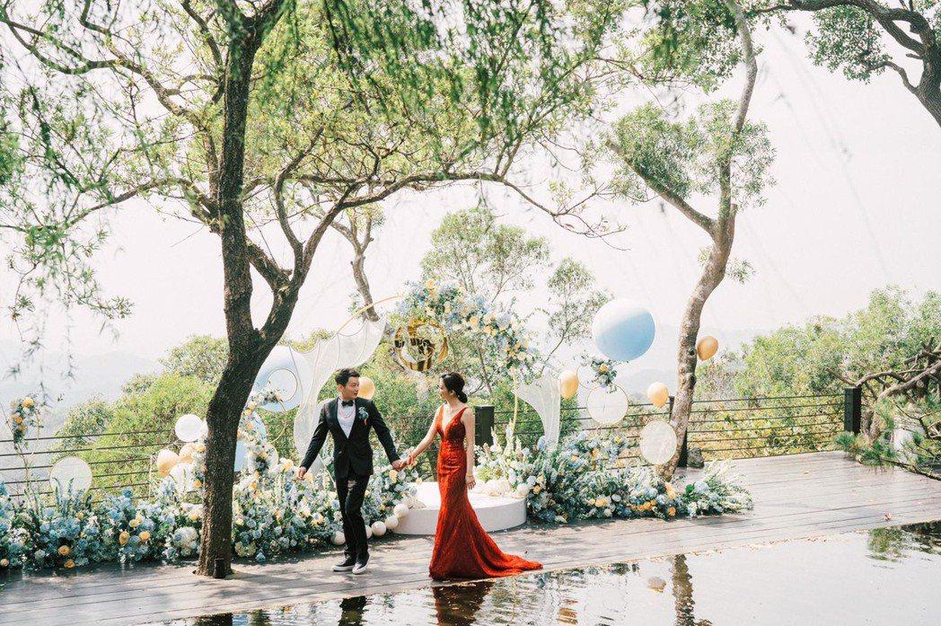 安唯綾與導演于中中交往2年多結婚了。圖/經紀人提供