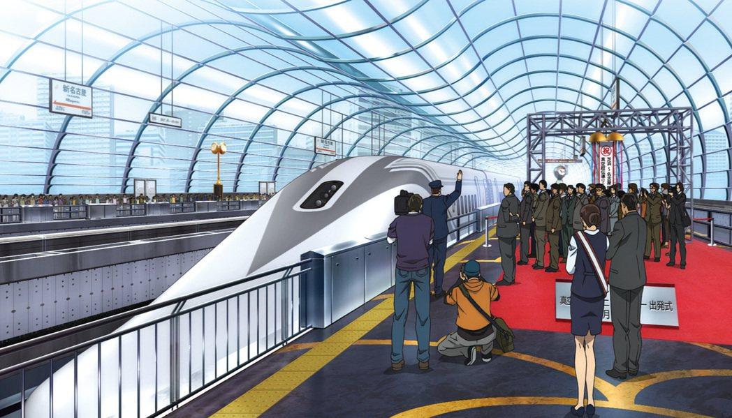 時速1000公里的真空超導磁懸浮列車。向洋提供