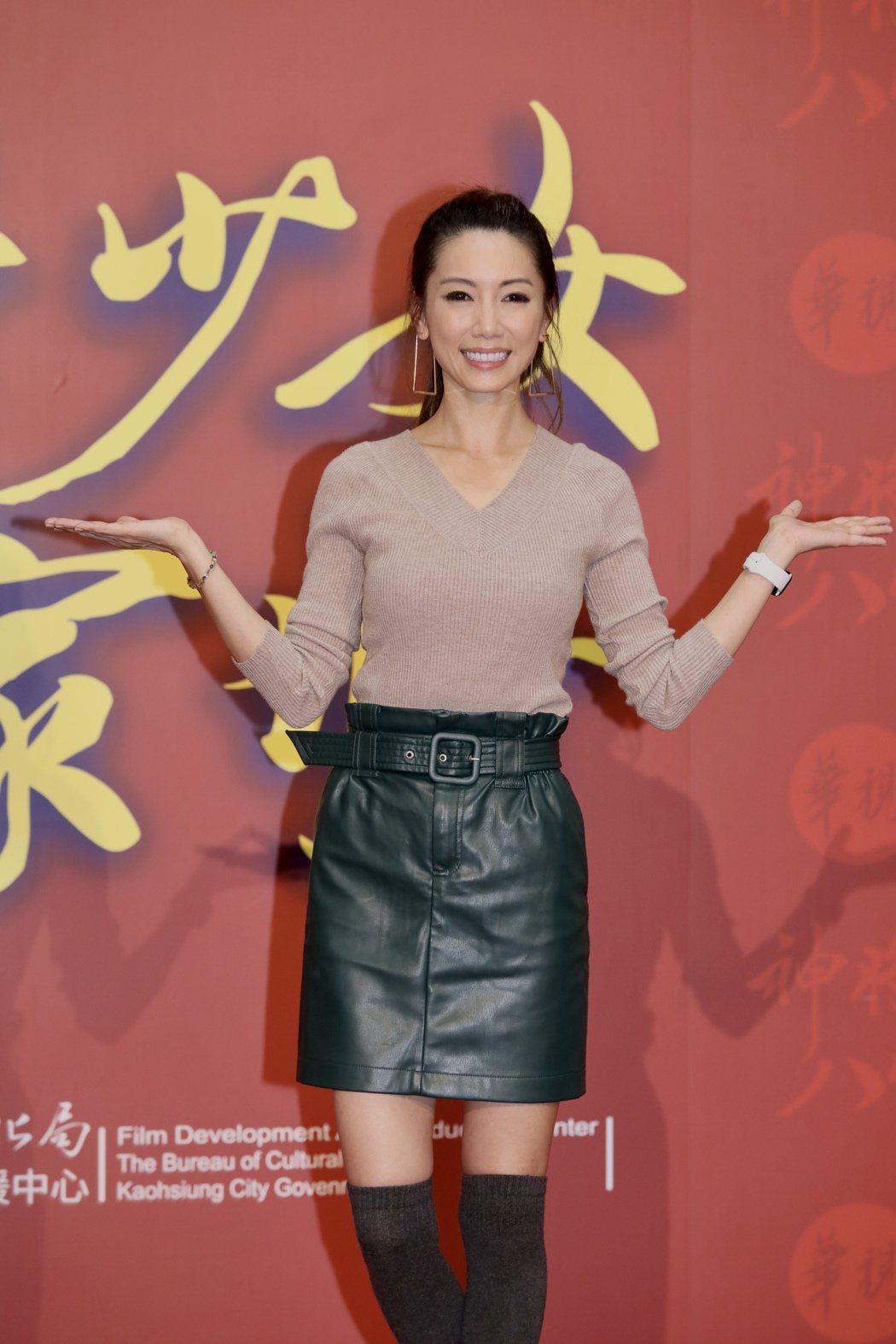 林韋君暌違5年,重返螢光幕挑大梁演出「神將少女八家將」。記者李政龍/攝影