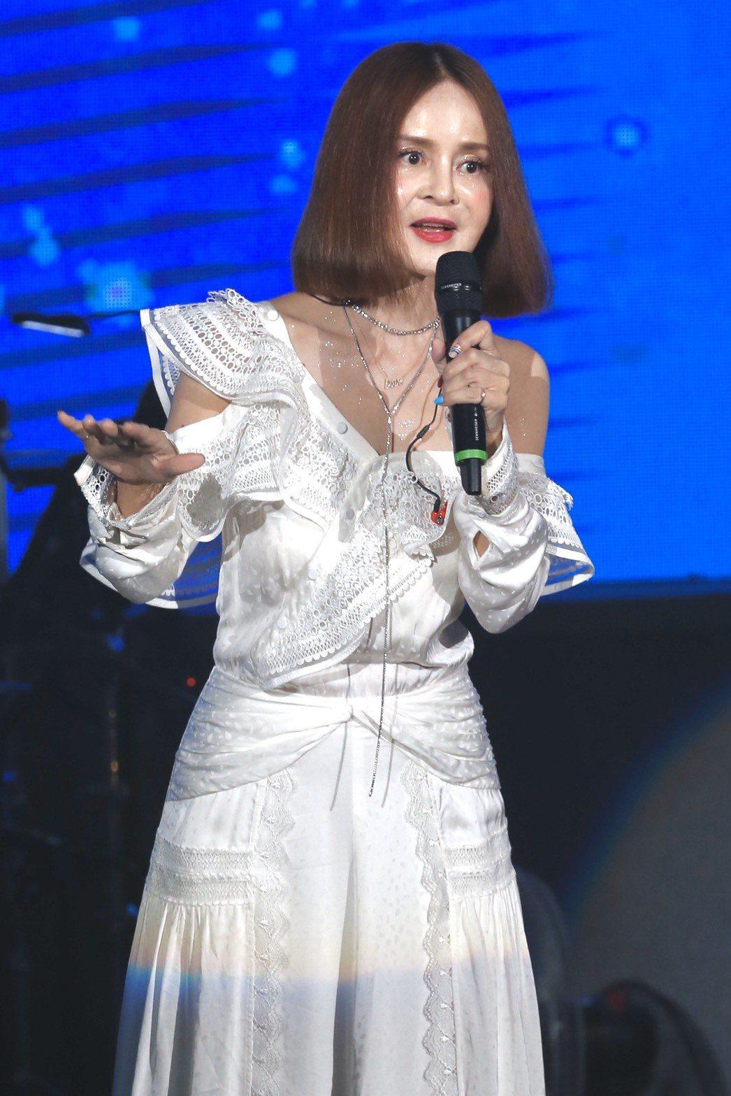 金曲歌后高勝美今晚開唱,重現瓊瑤戲劇經典曲。記者林俊良/攝影