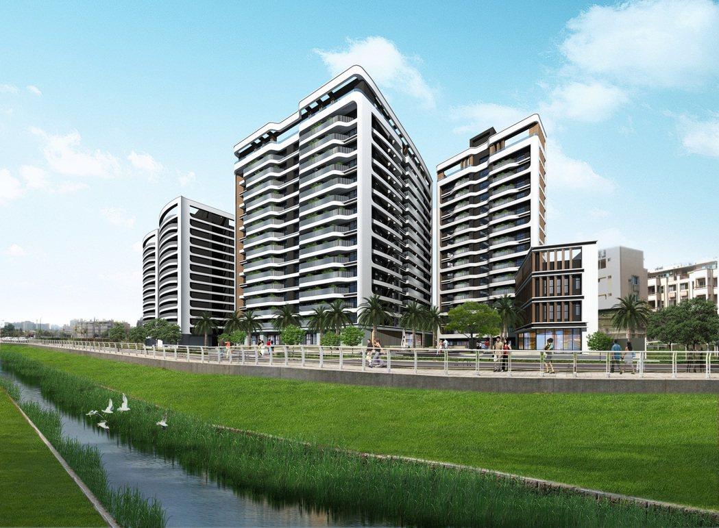 「多城市1」位於愛河上游,是稀有河岸第一排住家。