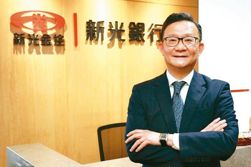 新光銀行總經理謝長融。 記者林俊良/攝影
