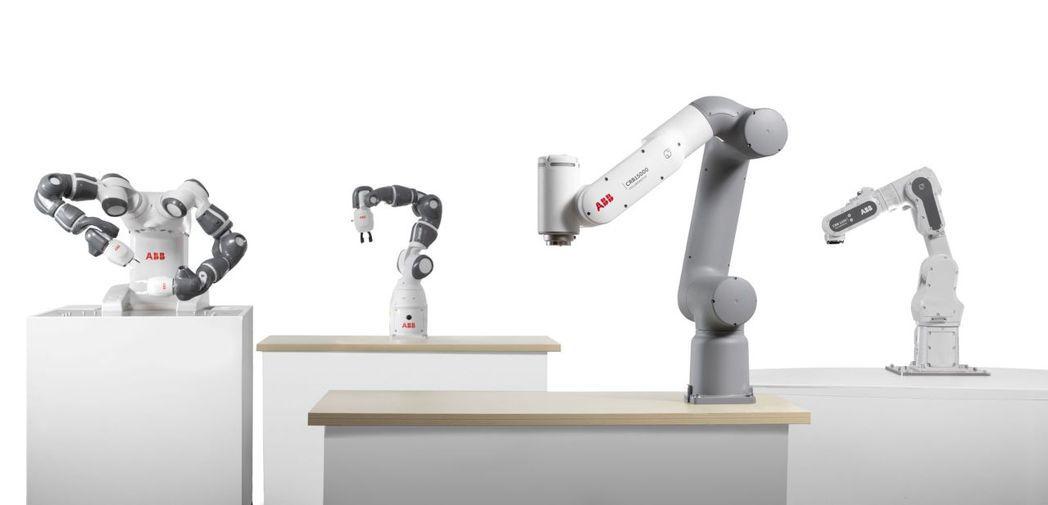 ABB協作機器人家族。  ABB/提供