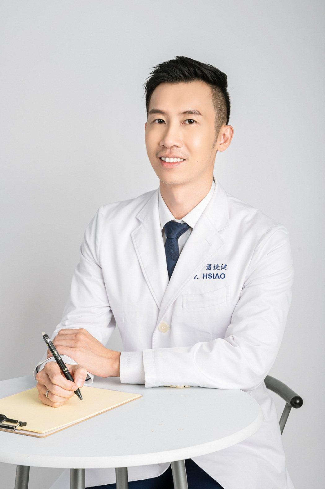 蕭捷健是專業減重醫師,去年跨足演藝圈。圖/艾迪昇傳播提供