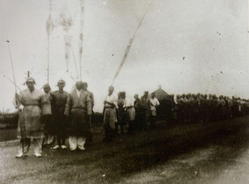 鎮瀾宮1963年舉行祈雨典禮。圖/鎮瀾宮提供