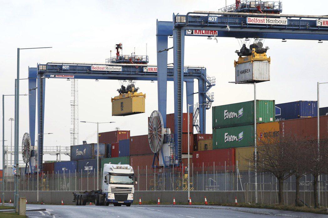法國1月對英國的出口額,較前六個月的平均值減少13%,與英國脫歐不無關聯。圖為北...