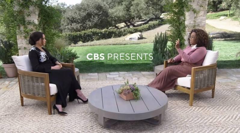 歐普拉專訪哈利王子與梅根的預告未播先轟動。(CBS)