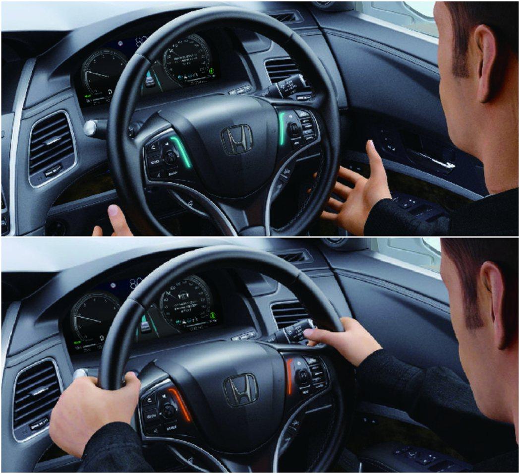 Honda SENSING Elite在符合條件下可啟動放雙手自動駕駛。 摘自H...