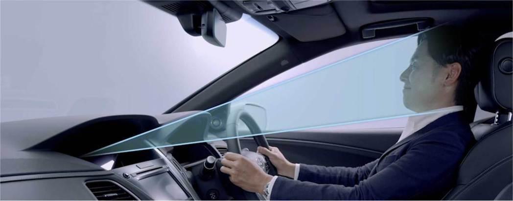 安裝在車輛內部的鏡頭負責確認駕駛員的狀況。 摘自Honda