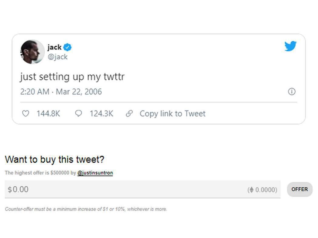 多西2006年3月從他的推特帳號發文:「剛剛才設好我的推特(just setti...