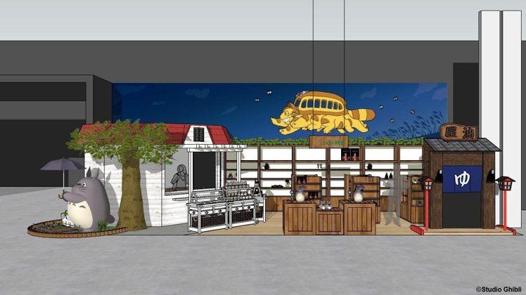 橡子共和國台南店設計示意圖。圖/橡子共和國提供