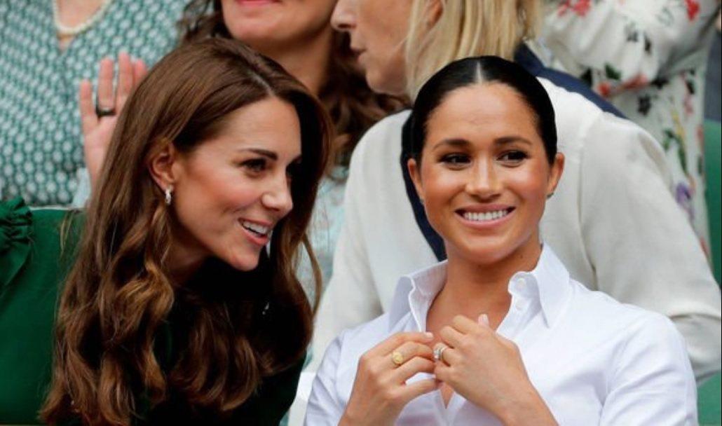 梅根(右)與嫂嫂凱特雖年歲相近,卻是作風迥然不同的皇室媳婦,彼此也被傳個性不合。...