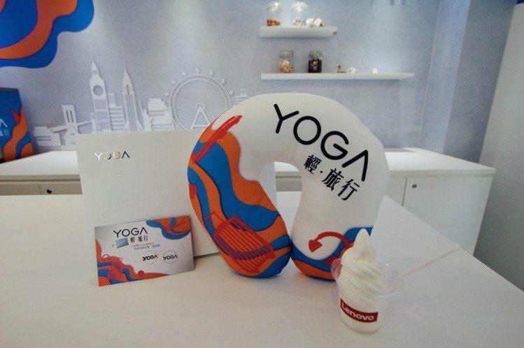 快閃店依Yoga諧音打造「輕盈優格吧」,完成指定任務即可獲得免費的優格及限量Yo...