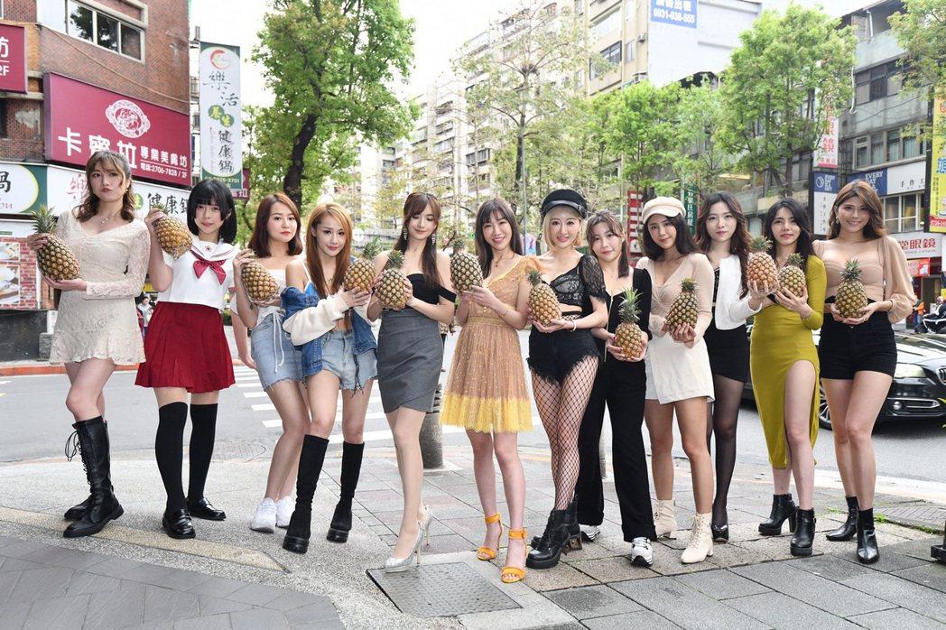 Angel安紀(左起)、趙宇喬(糖糖)、枝枝、卡比、心玥 、呂亞晞(格格)、Mi...