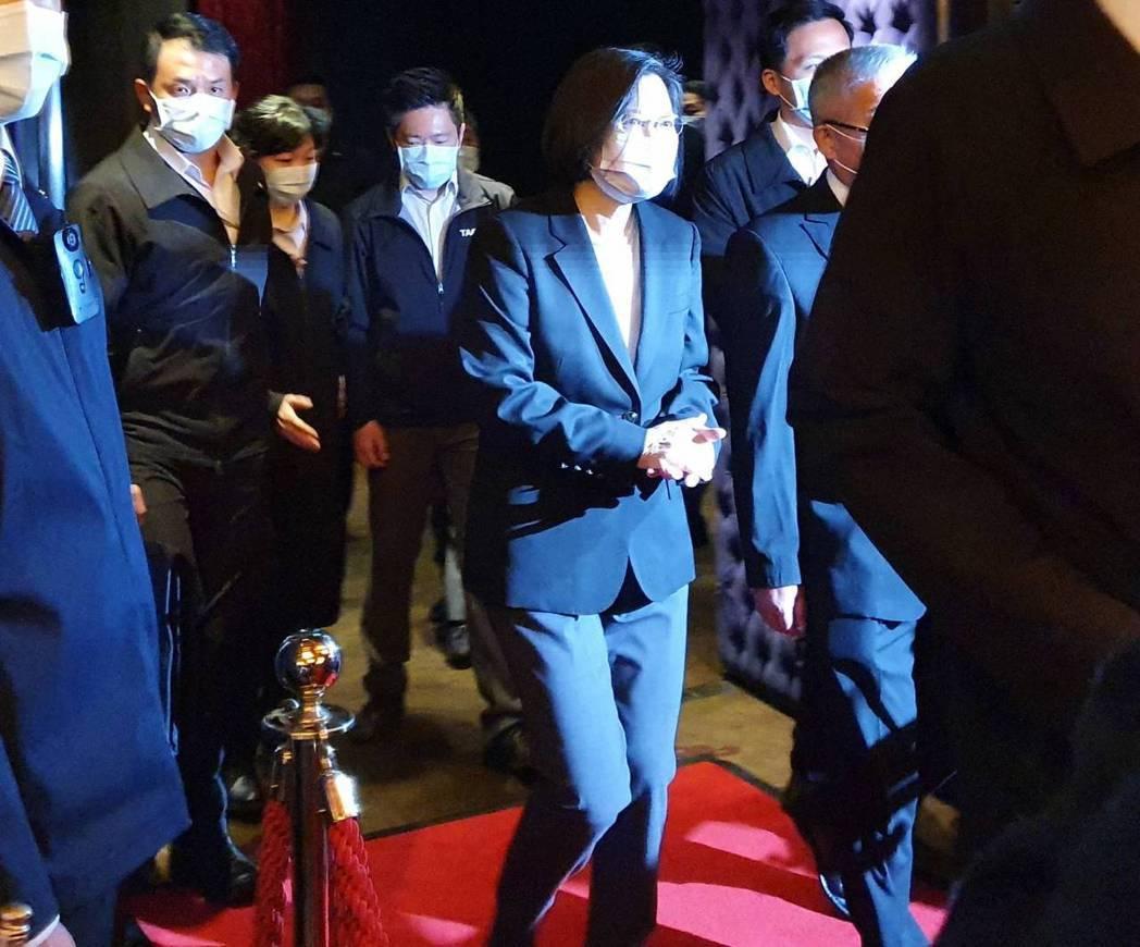 蔡英文總統今出席藥師公會全聯會春酒晚宴。記者楊雅棠/攝影