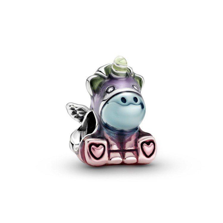 Pandora Friends彩虹獨角獸Bruno 925銀吊飾,1,580元。...