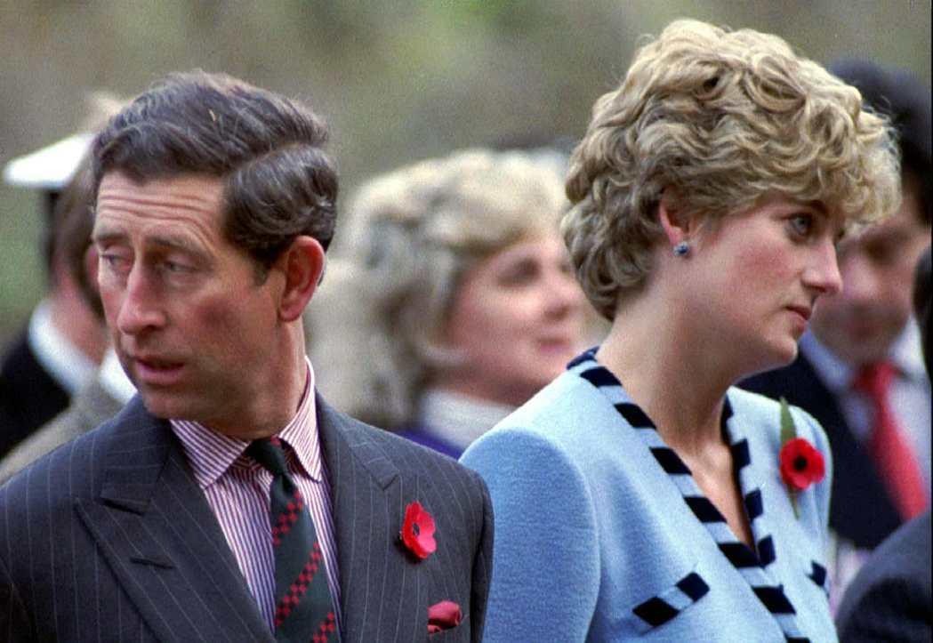 查爾斯與黛安娜婚姻不幸福,曾經替英皇室帶來很大的風暴。圖/路透資料照片