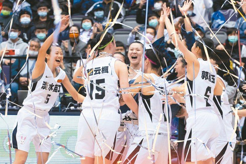 HBL女甲級冠軍賽,淡水商工達成2連霸。記者季相儒/攝影