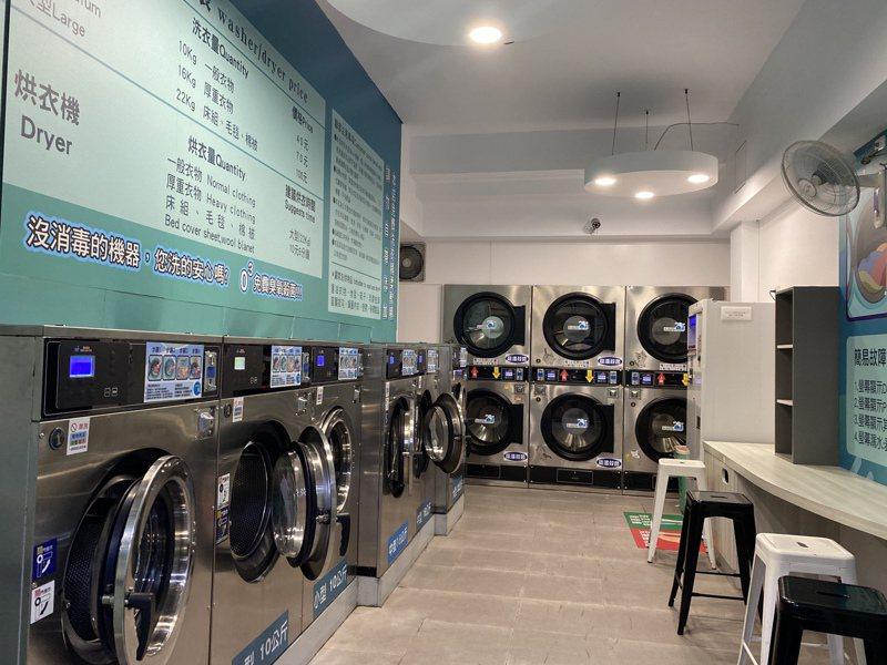都會區中常見的自助洗衣店因為曾發生氣爆意外,安全受到關注。記者修瑞瑩/攝影 修瑞瑩