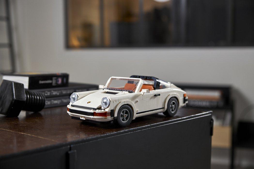 樂高推出全新保時捷911積木模型。 圖/LEGO提供
