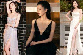 華人第一美腿!回顧《三十而已》江疏影的絕美紅毯造型史,原來深V高衩也能有高級感
