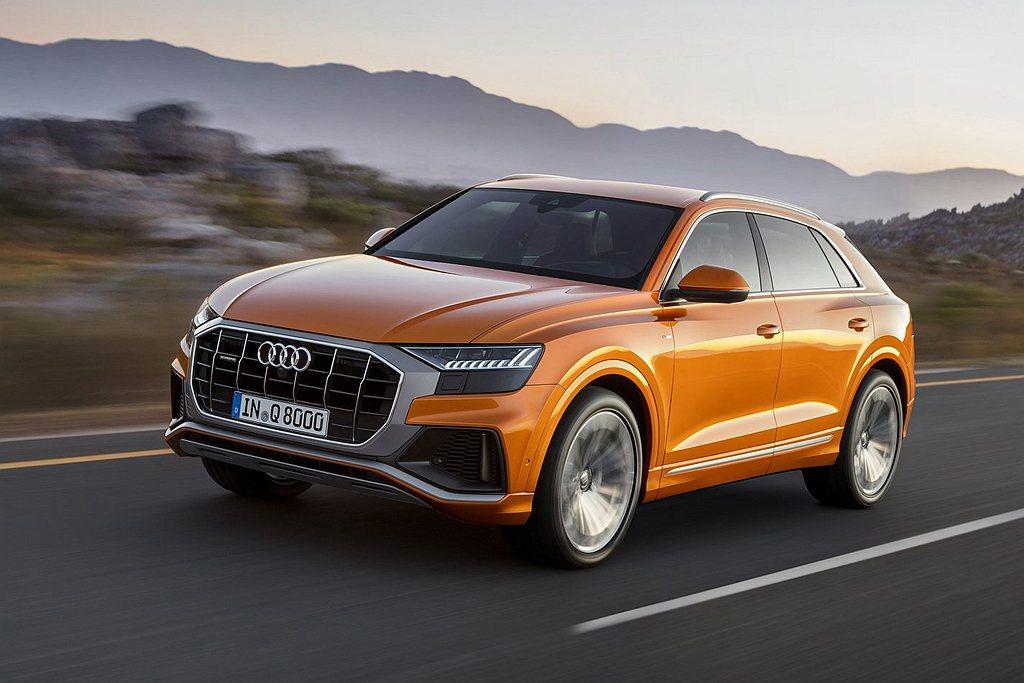 台灣奧迪宣布四環豪華休旅旗艦Audi Q8正式上市,進一步讓Q系列休旅家族的產品...
