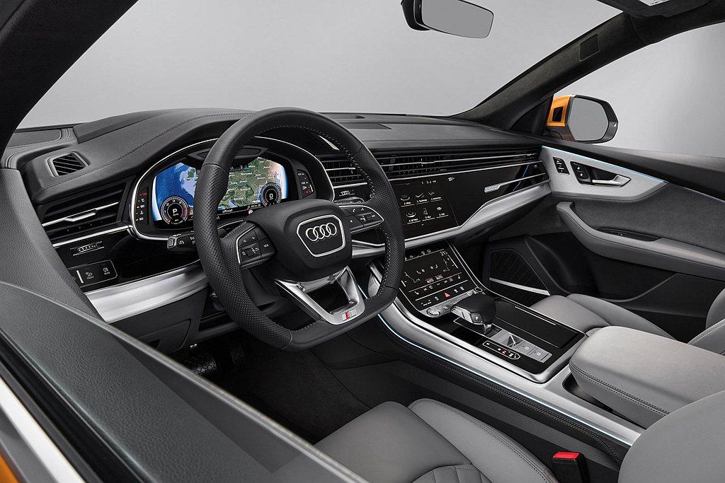 Audi Q8多項高科技與豪華配備納入標配清單中,如HD Matrix高階矩陣式...