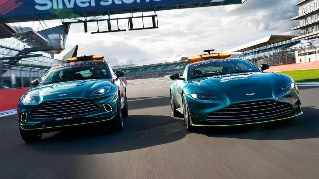 Aston Martin是首座英國車廠在F1擔任安全車。 圖/Aston Mar...