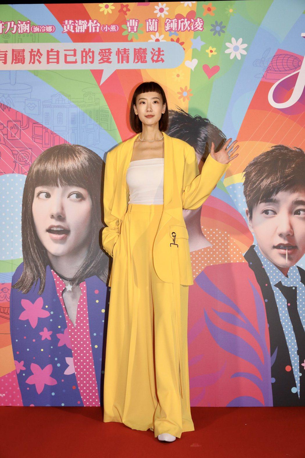 陸明君出席電影「揭大歡喜」記者會。記者李政龍/攝影