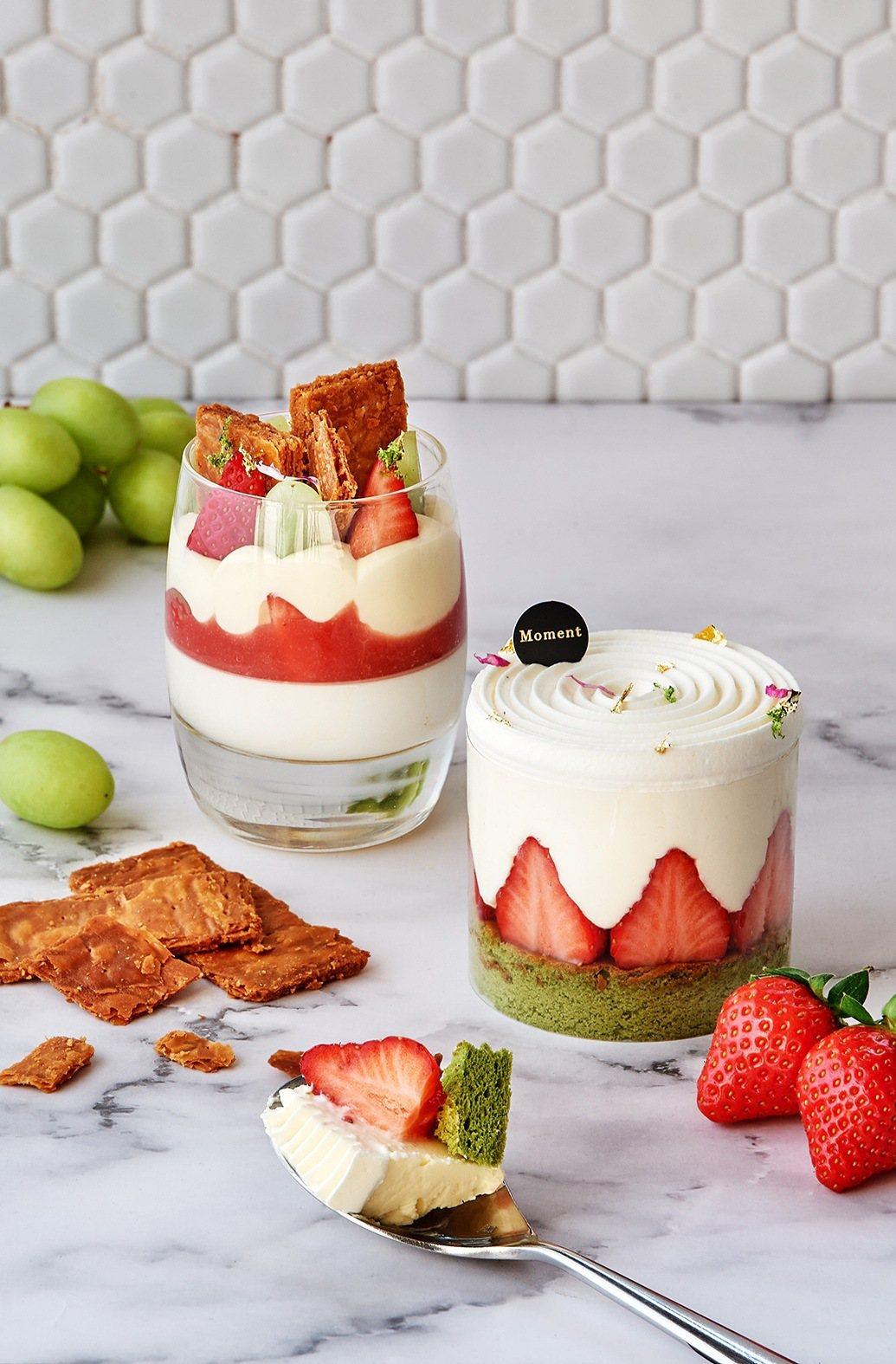 「白色戀人」與「莓好芙蓮」,每款320元。業者/提供