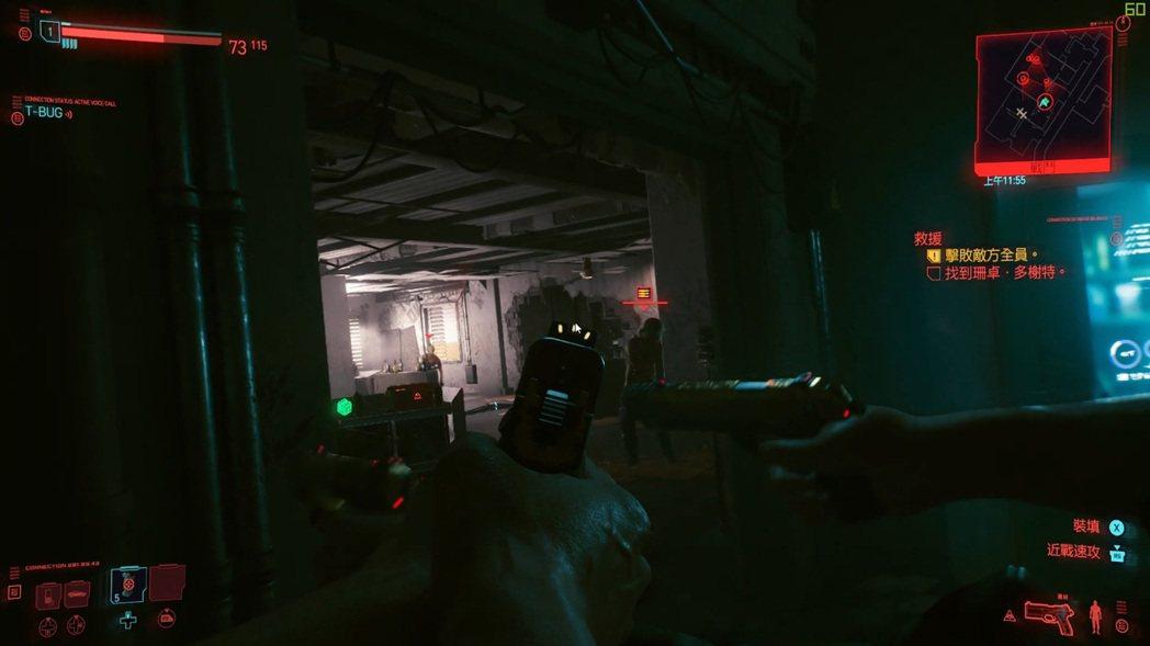 Cyberpunk 2077細部明顯流暢,槍戰場景平均幀數近70。 彭子豪/攝影