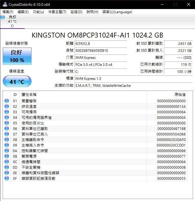 固態硬碟為1T M.2 NVMe PCIe SSD金士頓製品。 彭子豪/攝影