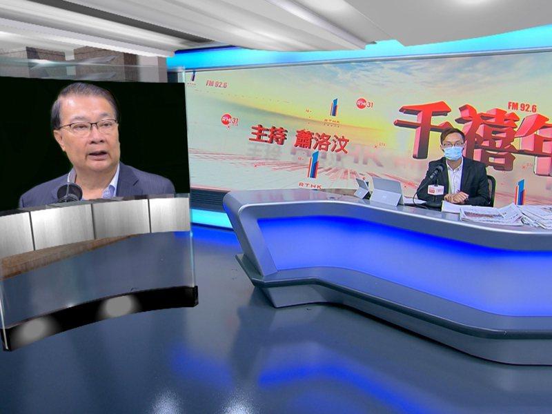 港區人大常委譚耀宗表示,人大會議今分組討論香港選舉制度。(香港電台)