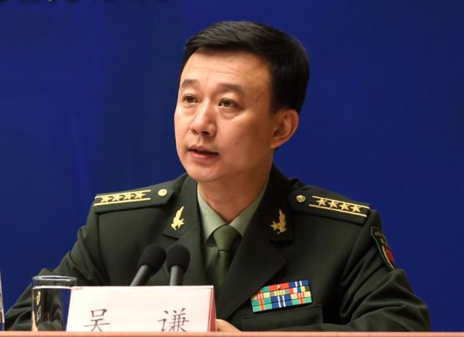 大陸國防部發言人吳謙。(大公網)