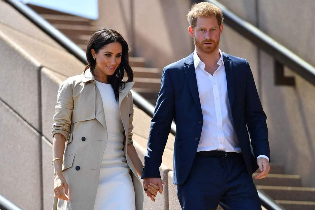 哈利王子與妻子梅根。法新社資料照